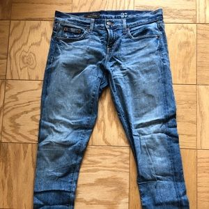 jcrew mid rise toothpick ankle jean size 27